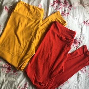 TWO pairs of Lularoe leggings ! Solid colors